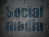 Social media concept: Social Media on grunge wall background — 图库照片