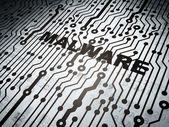 Privacy concept: circuit board with Malware — Stock Photo