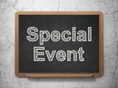 Finance concept: Special Event on chalkboard background — Stock Photo
