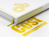 Finance concept: book Gears, Cost Management on white background — Photo
