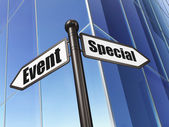 Business concept: sign Special Event on Building background — Stock Photo
