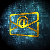 Business concept: Email on digital background — Stock Photo