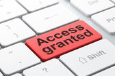 Protection concept: Access Granted on computer keyboard background — Stock Photo
