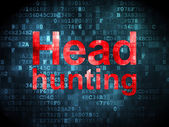 Finance concept: Head Hunting on digital background — Stock Photo