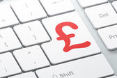 Currency concept: Pound on computer keyboard background — Stock Photo