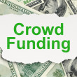 Business concept: Crowd Funding on Money background — Stock Photo #38346139