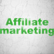 Business concept: Affiliate Marketing on wall background — Stock Photo #38348519