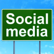 Social media concept: Social Media on road sign background — Stock Photo #38349381