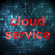 Cloud networking concept: Cloud Service on digital background — Stock Photo #38349769