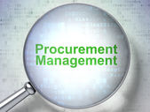 Business concept: Procurement Management with optical glass — Stock Photo