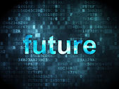 Time concept: Future on digital background — Stock Photo
