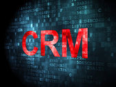 Finance concept: CRM on digital background — Stock Photo