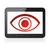 Safety concept: Eye on tablet pc computer — Stockfoto