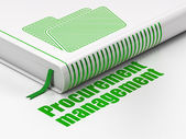 Finance concept: book Folder, Procurement Management on white background — Stock Photo