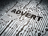 Marketing concept: circuit board with Advert — Stock Photo