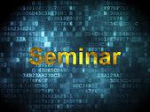 Education concept: Seminar on digital background — 图库照片