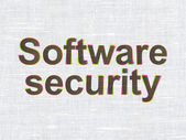 Privacy concept: Software Security on fabric texture background — Foto de Stock