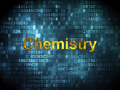 Education concept: Chemistry on digital background — Stock Photo