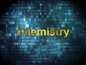 Eğitim kavramı: dijital arka planda kimya — Stok fotoğraf
