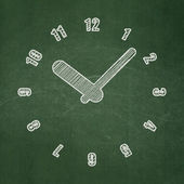 Time concept: Clock on chalkboard background — Stock Photo