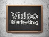 Finance concept: Video Marketing on chalkboard background — Stock Photo