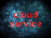 Cloud networking concept: Cloud Service on digital background — Stock fotografie