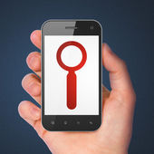 Information concept: Search on smartphone — Stock Photo