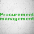 Stock Photo: Finance concept: Procurement Management on wall background