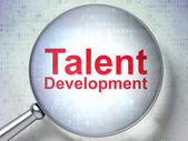 Education concept: Talent Development with optical glass — Stock Photo