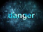 Safety concept: Danger on digital background — Foto de Stock