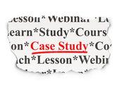 Conceito de educação: estudo de caso sobre fundo de papel — Fotografia Stock