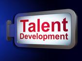 Education concept: Talent Development on billboard background — Photo