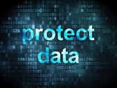Safety concept: Protect Data on digital background — Stock Photo