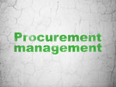 Finance concept: Procurement Management on wall background — Stock Photo