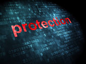 Security concept: Protection on digital background — Stock fotografie