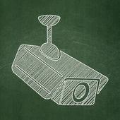 Soukromí koncept: cctv kamery na tabuli pozadí — Stock fotografie