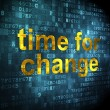 Time concept: Time for Change on digital background — Stock Photo #38392073