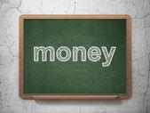 Finans konceptet: pengar på svarta tavlan bakgrund — Stockfoto