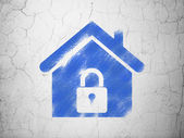Security concept: Home on wall background — Stock Photo