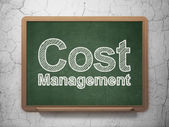 Business concept: Cost Management on chalkboard background — Stock Photo