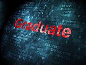 Education concept: Graduate on digital background — Stock Photo