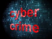 Protection concept: Cyber Crime on digital background — Stock Photo