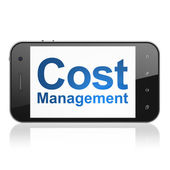 Business concept: Cost Management on smartphone — Stok fotoğraf