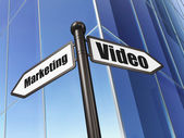Business concept: sign Video Marketing on Building background — Photo