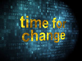 Time concept: Time for Change on digital background — Stock Photo