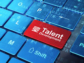 Education concept: Computer Pc and Talent Development on computer keyboard background — Stock Photo