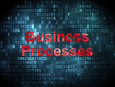 Business concept: Business Processes on digital background — Stok fotoğraf