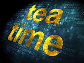 Time concept: Tea Time on digital background — Stock Photo