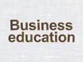 Education concept: Business Education on fabric texture background — Photo