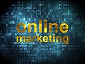 Marketing concept: Online Marketing on digital background — Photo